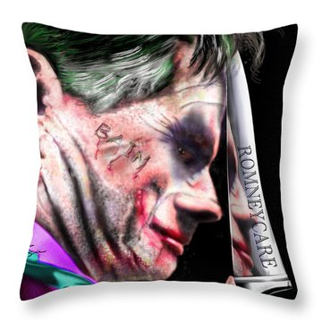Mad Men Series 2 Of 6 - Romney The Joker Throw Pillow by Reggie Duffie