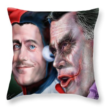 Mad Men Series  4 Of 6 - Romney And Ryan Throw Pillow
