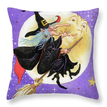 Mad Millie Throw Pillow by Richard De Wolfe