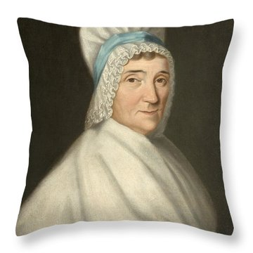 Madame Gabriel Cotte Throw Pillow by Louis Cretien de Heer