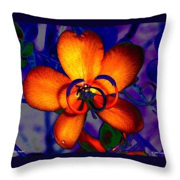 Madarin Petals Throw Pillow