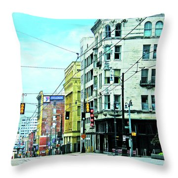 Throw Pillow featuring the photograph Madison Avenue by Lizi Beard-Ward