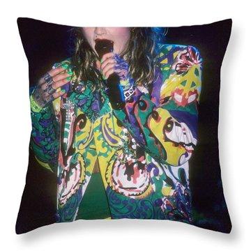 Madonna 1985 Throw Pillow by David Plastik