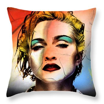 Madonna  Throw Pillow by Mark Ashkenazi