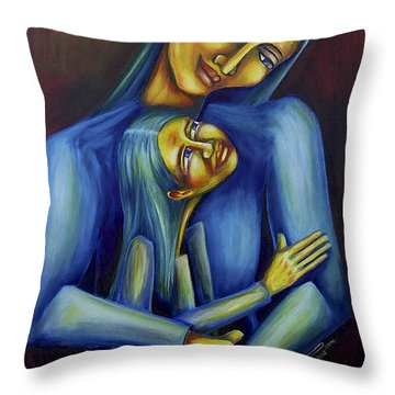Madre E Hija Throw Pillow