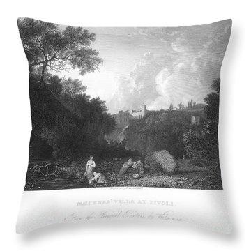 Maecenas Villa At Tivoli Throw Pillow by Granger