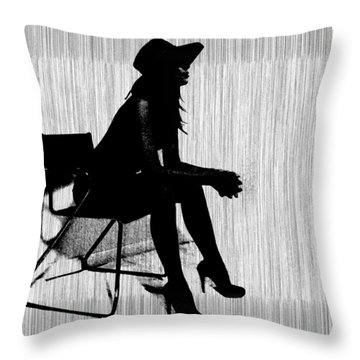 Magdalen In Black Throw Pillow