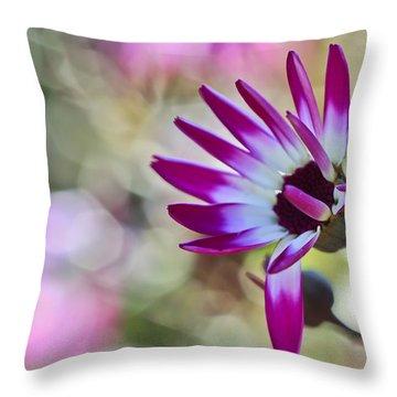 Magenta Throw Pillow by Heidi Smith