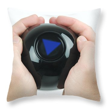 Magic Eight Ball, No Message Throw Pillow by Photo Researchers, Inc.