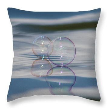 Throw Pillow featuring the photograph Magic On The Water by Cathie Douglas