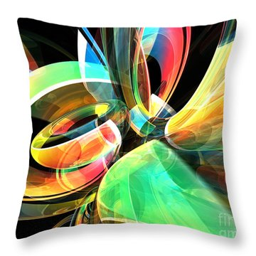 Throw Pillow featuring the digital art Magic Rings by Phil Perkins