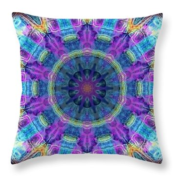 Throw Pillow featuring the digital art Magic Snowflake by Alec Drake