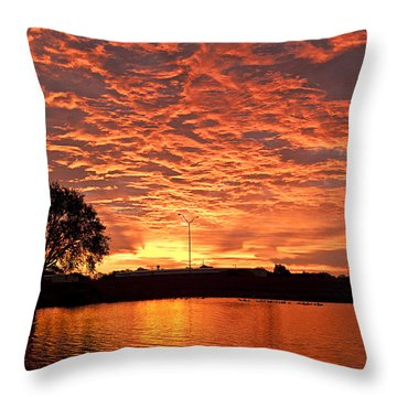 Magic Sunrise Throw Pillow