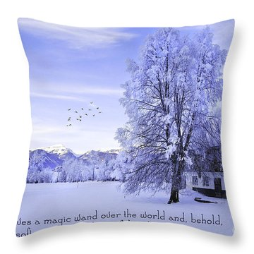 Magic Wand Throw Pillow by Sabine Jacobs