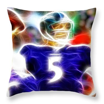 Magical Joe Flacco Throw Pillow by Paul Van Scott
