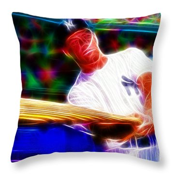 Magical Mickey Mantle Throw Pillow by Paul Van Scott