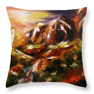 Magical Morn Throw Pillow