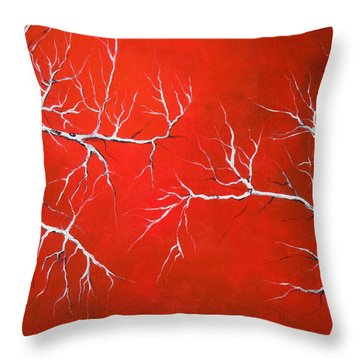 Throw Pillow featuring the painting Magical Night by Dan Whittemore