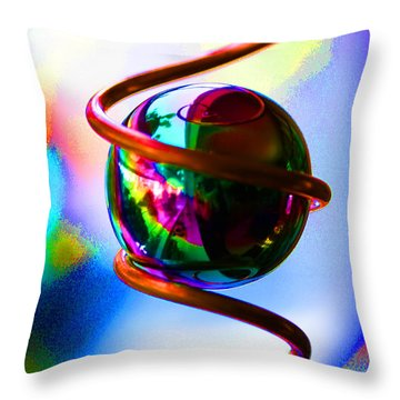 Magical Sphere Throw Pillow
