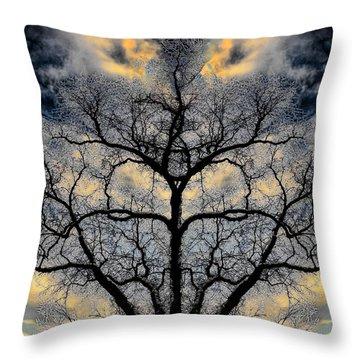 Magical Tree Throw Pillow by Hakon Soreide