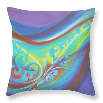 Magical Wave Water Throw Pillow by Reina Cottier