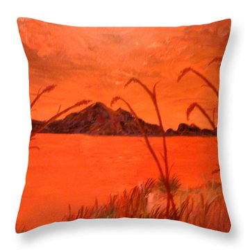 Magnetic Island Sunset Throw Pillow