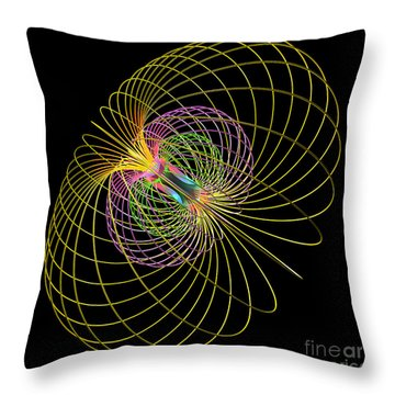 Magnetism 2 Throw Pillow by Russell Kightley