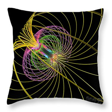 Magnetism 3 Throw Pillow