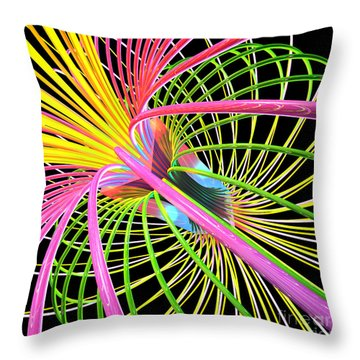Magnetism 4 Throw Pillow