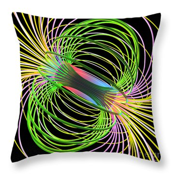 Magnetism 5 Throw Pillow