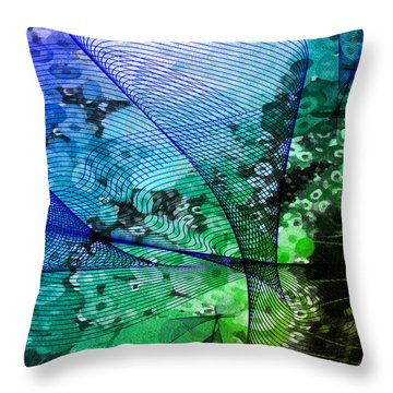 Magnification 2 Throw Pillow by Angelina Vick