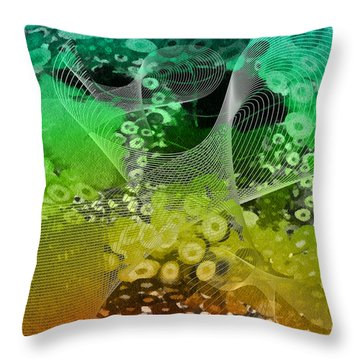 Magnification 3 Throw Pillow by Angelina Vick
