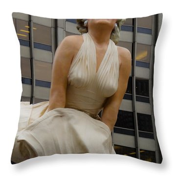 Magnificent Marilyn Throw Pillow