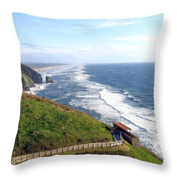 Magnificent Oregon Coast Throw Pillow by Will Borden