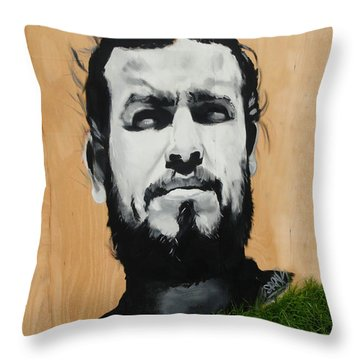 Magnificent Street Art Throw Pillow by Al Bourassa