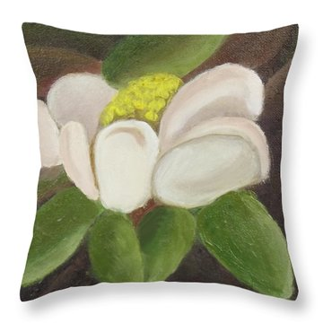 Magnificient Magnolia Throw Pillow
