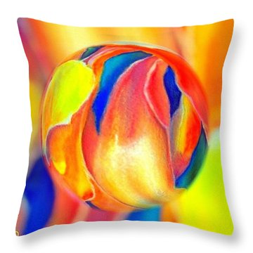 Magnolia Marble Throw Pillow
