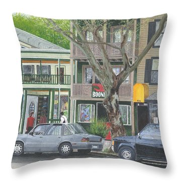main st so Piermont NY Throw Pillow by Stuart B Yaeger