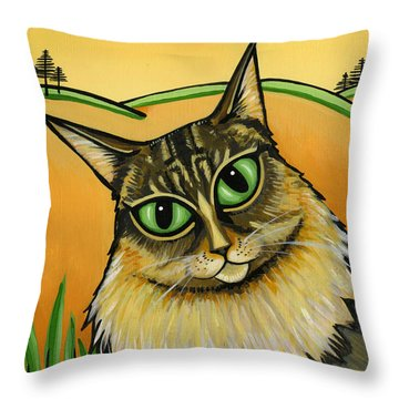 Maine Coone Throw Pillow