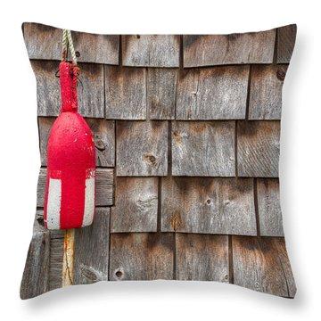 Maine Lobster Shack Throw Pillow by Steve Gadomski