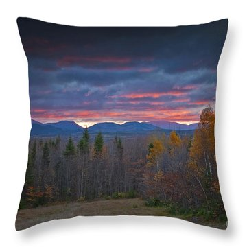Throw Pillow featuring the photograph Moosehead Sunset by Alana Ranney