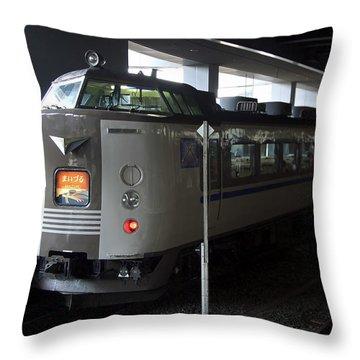 Maizuru Electric Train - Kyoto Japan Throw Pillow by Daniel Hagerman