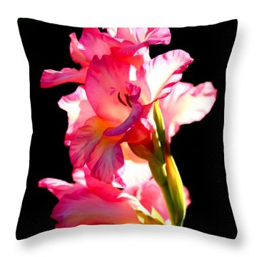 Majestic Gladiolus Throw Pillow