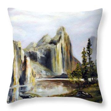 Majestic Mountains Throw Pillow by Phil Burton