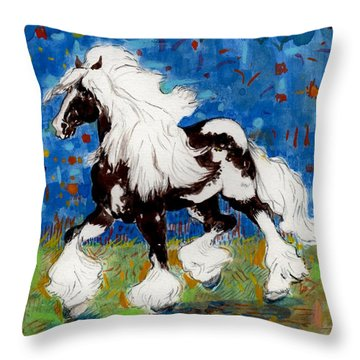 Throw Pillow featuring the painting Majestic One by Mary Armstrong
