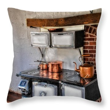Majestic Stove No. 1 Throw Pillow by Susan Candelario