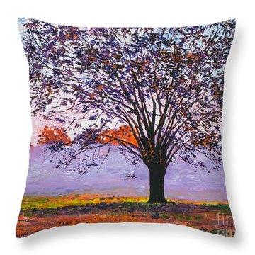 Lavender Mist Throw Pillows