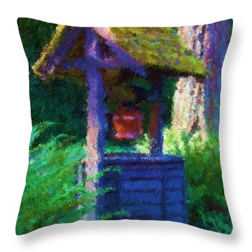Make A Wish Throw Pillow by Heidi Smith