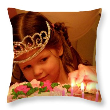 Make A Wish Throw Pillow by Lainie Wrightson