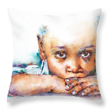 Make A Wish Throw Pillow by Stephie Butler